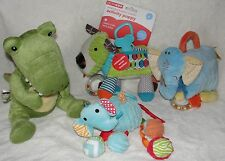 Baby Boy Soft Toy Lot Skip Hop Activity Puppy Croc in Socks Nat & Jules Rattles