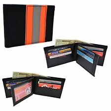 Firefighter Wallet Bunker Turnout Gear Leather Flip Out Fire Department Material