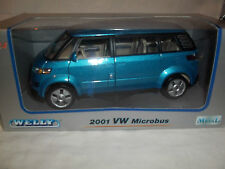 Welly 2419w VW Microbus 2001 Met Blue 1/24 Mint & Boxed