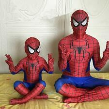 Amazing Spiderman costume Kid and Adult Halloween cosplay spider Superhero suit