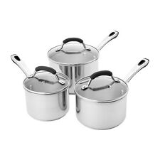 Kaiserhoff - Stainless Steel 4 Piece Large Pan Set -  1.9 & 6.5 Litre Pans