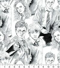 Harry Potter Line Art Cotton Fabric by the YARD