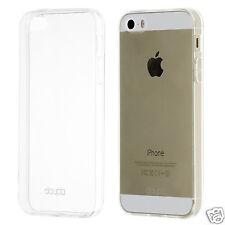 TPU Case iPhone 5 5S SE Silikon Hülle Schale Cover Matt Clear Staubschutz Folie