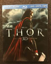 Thor 3D (Blu-ray 3D/Blu-ray/DVD/Digital, 2011; Limited Ed.) NEW w/ OOP Slipcover