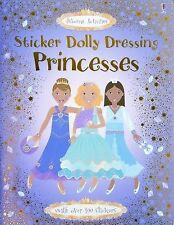 Sticker Dolly Dressing Princesses (Usborne Activities) Book New