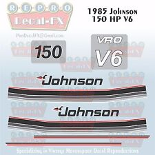1985 Johnson 150 HP V6 Sea-Horse Outboard Reproduction 10 Pc Marine Vinyl Decals