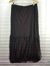 TS TAKING SHAPE sz S (or 16 ) womens Black Long Mesh Overlay Skirt [#1583]