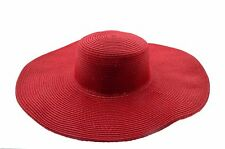 WIDE Women Colorful Derby Large Floppy Folderable Straw Beach Hat USA SELLER
