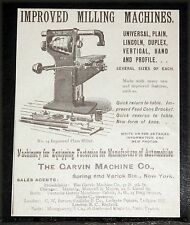 1900 OLD MAGAZINE PRINT AD, GARVIN IMPROVED MILLING MACHINES FOR AUTOMOBILE MFG!