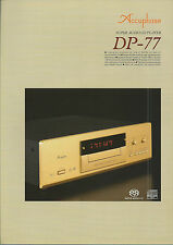 Accuphase DP-77 Katalog Prospekt Catalogue Datasheet Brochure