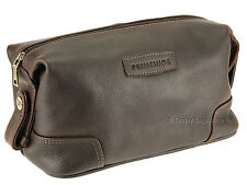 Primehide Oiled Leather Wash / Toiletry Bag / Wet Pack - Elpaso 733 Brown