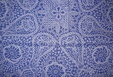 "LIBERTY ART FABRIC ""NICHOLAS JAMES"" PER HALF METRE (50cm) cotton tana lawn BLUE"