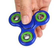1Pc Tri-Spinner Fidget Toy Ceramic EDC Hand Finger Spinner Focus Black & Green