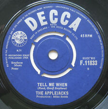 "7"" The Applejacks ‎– Tell Me When / Baby Jane - Mike Smith - DECCA F 11833"