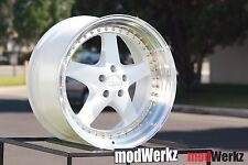18x9.5 18x10.5 Inch +22 ESR SR04 5x120 White Wheels Rims BMW e60 e46 e90 e92 ES8