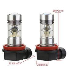 2x 100W H8 H11 20-LED Nebelscheinwerfer Tagfahrlicht DRL Lampe 6000K Weiß Birne