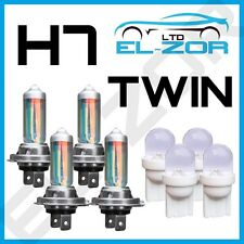 H7 XENON SUPER WHITE 55W BULBS DIPPED BEAM 12V HEADLIGHT HEADLAMP LED LIGHT X 4