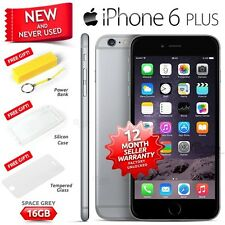 New Sealed Factory Unlocked APPLE iPhone 6 Plus + Space Grey 16GB 4G Smartphone