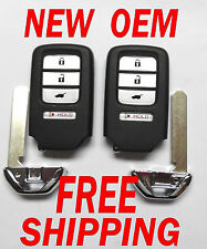 NEW OEM PAIR 2015 2016 HONDA CR-V EX KEYLESS REMOTE SMART KEY FOB 72147-T0A -A11