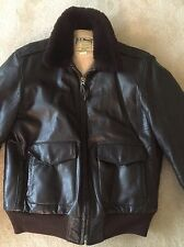 Ll Bean Vintage Shearling Bomber Jacket 42 Long