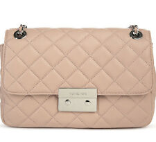 NWT Auth Michael Kors Quilted Leather Sloan Large Chain Shoulder Crossbody Bag