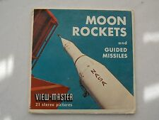 Moon Rockets and Guided Missiles  View Master  S5 Packet  1959   Rare