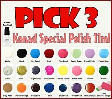 PICK 3 - 11ml Konad Special Nail Polish for Stamping Nail Art Designs