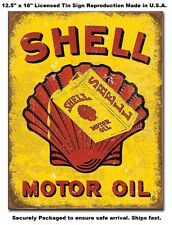 Shell Motor Oil Can TIN SIGN METAL POSTER vintage gas and garage wall decor 2173