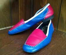 Carisma Red White Navy Loafer Shoes 9M Fourth of July Independance Day Patriotic