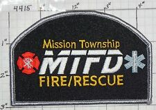 MINNESOTA, MISSION TOWNSHIP FIRE RESCUE PATCH