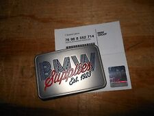 BMW Silver Metal Buckle Embossed With BMW Supplies Est. 1923 # 76868552714