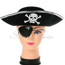 Skull Pattern Cosplay Funny Pirate Hat Welcoming Halloween Carnival Silver Bri チ