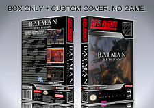 BATMAN RETURNS. NTSC. Box/Case. Super Nintendo. BOX + COVER PRINTED. (NO GAME)