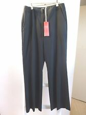 BNWT Pure Collection smart ladies unlined wool bootcut trouser black size 14R
