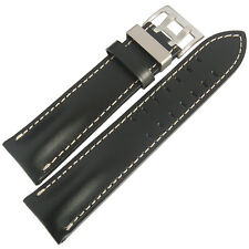 20mm Di-Modell Offroad Mens Black Leather Pilot German Made Watch Band Strap