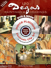 OVERSTOCK SALE ~ 120 G8 PAINTINGS of DEGAS ~ ILLUSTRATED BOOK + Mac Win DVD