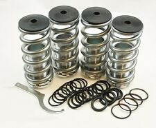 "Honda Adjustable 0-4"" Silver Suspension Coilovers Lowering Drop Springs Kit"
