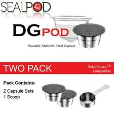 SealPod Stainless Steel Reusable Coffee Capsule Nescafe Dolce Gusto Two Pack
