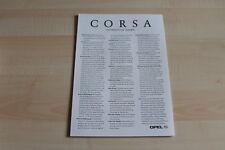 80229) Opel Corsa B + Tigra - alle Verbrauchsdaten - Prospekt 12/1996