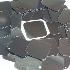 Hematite Shiny Gray Metallic Sequin Square Diamond 1.5 inch Couture Paillettes