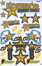 New Rockstar Energy Motocross ATV Racing stickers/decals 1 sheet. (st98)