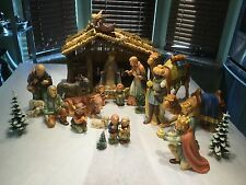 LOT/GOEBEL/HUMMEL 214/NATIVITY/18 PC/2 CAMELS/FLYING ANGEL/SCAPE