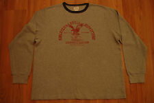 American Eagle Outfitters Gray Thermal/Navy Crew Shirt XXL Mens Long Sleeve 2XL