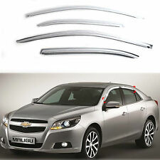 Chrome Sun Shade/Rain Guard Door/Window Vent Visor for 12+ Holden Malibu