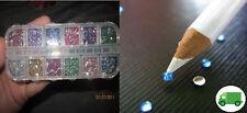 3000 Crystal Flat Back Acrylic Rhinestones Gems diamante 1.5 MM - 2.MM KIT Craft