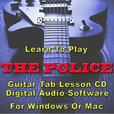 POLICE (THE) Guitar Tab Lesson CD Software - 45 Songs