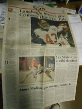 Alabama Crimson Tide HUNTSVILLE TIMES Section LANGHAM'S HEROICS GIVE TIDE TITLE