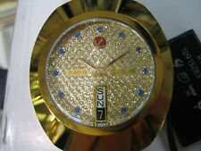 RADO DIASTAR MEN'S WATCH AUTOMATIC SAPPHIRE ALL S/S GOLD SWISS R12413313 NEW