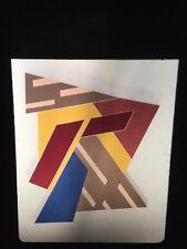 """Frank Stella """"Felztyn I"""" Italian Futurist 35mm Art Slide"""