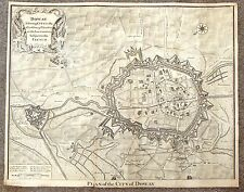 "Basire's City Map  - ""DOWAY, A STRONG CITY IN FLANDERS"" - Copper Engraving -1745"